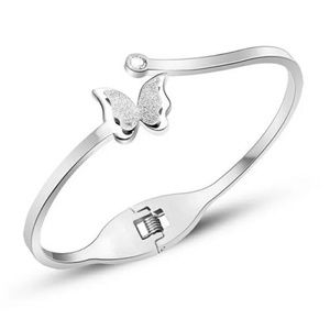 Silver butterfly bracelet.